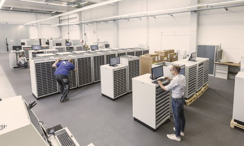 Toolbase output cabinets save expensive warehouse space